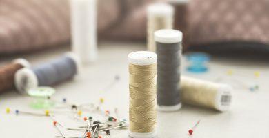 Aguja e hilo para coser y tejer una hamaca