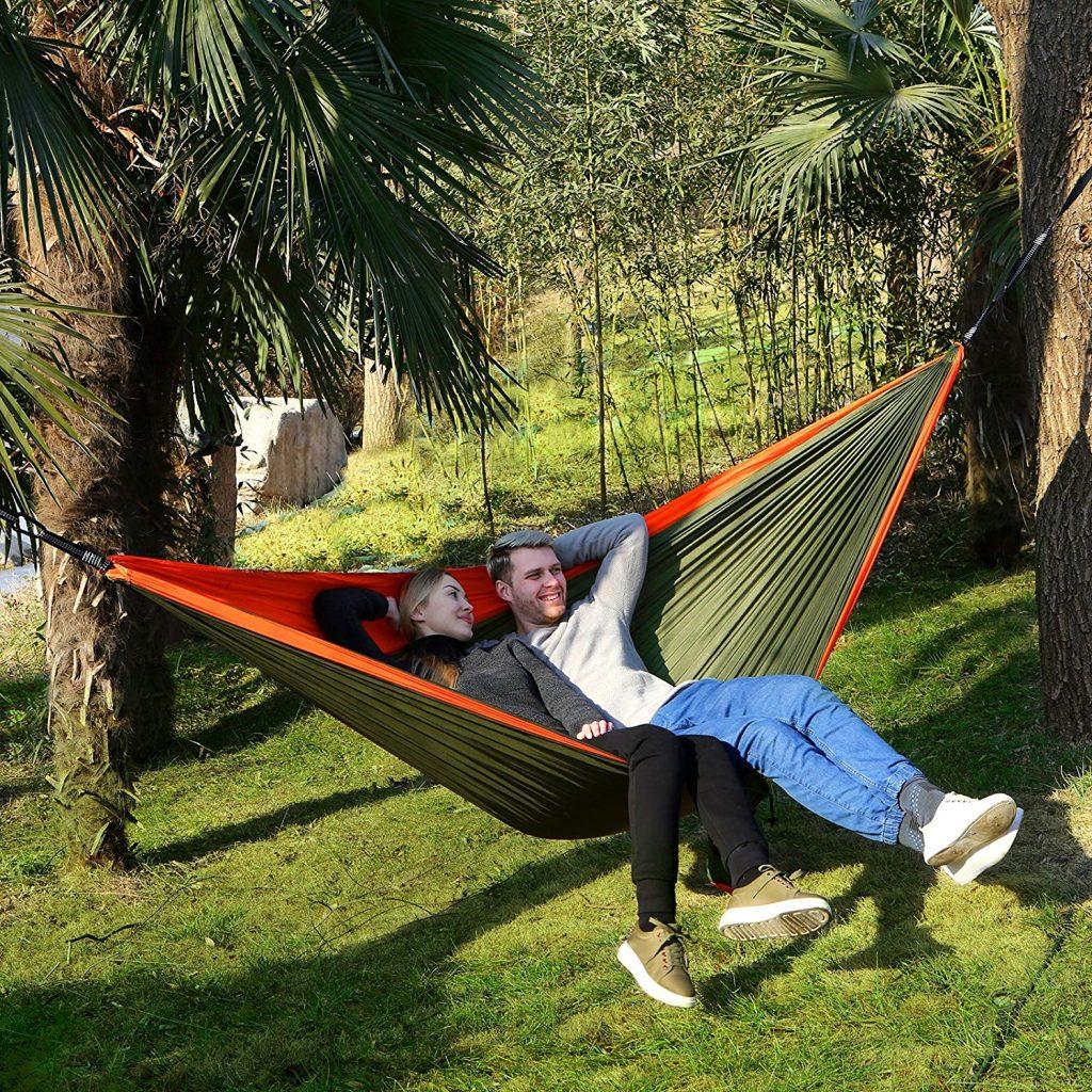 Hamaca songmics gdc14ao perfecta para senderismo monte caminar picnic acampadas