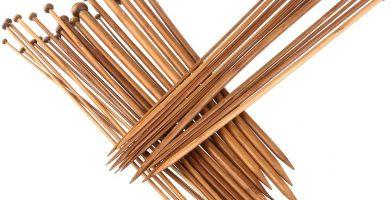 agujas tejer madera